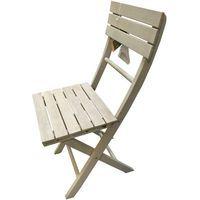 Silla plegable madera blanca FSC 85x52,5x40 cm Altea, 1 ud