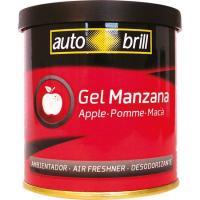 Ambientador gel en lata aroma manzana AUTOBRIL, envase 80gr