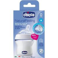 Biberón NaturalFeeling f. normal 150 ml 0m+ CHICCO, pack 1 unid.