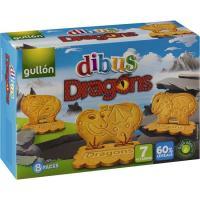 Galleta Dibus Drangons GULLÓN, 8 pack, caja 300 g
