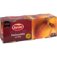 Melocotón en tiras JUVER, pack 3x225 g