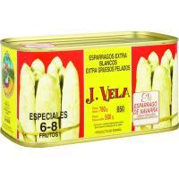 Espárrago extra grueso IGP Navarra 6/8 piezas J.VELA, lata 500 g