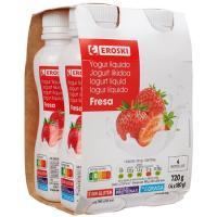 Bonyourt yogur líquido de fresa EROSKI, pack 4x180 g