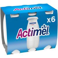 Yogur para beber natural ACTIMEL, pack 6x100 ml