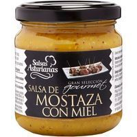 Salsa de mostaza con miel SALSAS ASTURIANAS, frasco 210 g