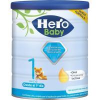 Leche en polvo HERO Baby Nutrasense 1, lata 800 g