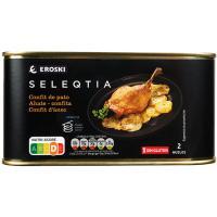 Confit de pato Eroski SELEQTIA, lata 600 g