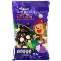 Grageas de chocolate EROSKI, bolsa 200 g