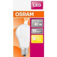 Bombilla Led E27 estandar 5,5W luz cálida (2700K) OSRAM, 1 ud