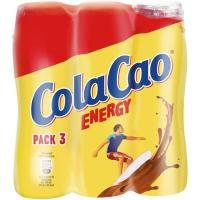 Batido de cacao COLA CAO Energy, pack 3x188 ml