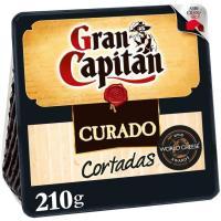 Queso curado ya cortado GRAN CAPITÁN, cuña 210 g
