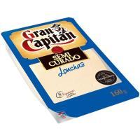 Queso semi GRAN CAPITAN, lonchas, bandeja 160 g