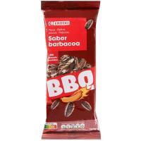 Pipas de girasol sabor barbacoa EROSKI, bolsa 160 g