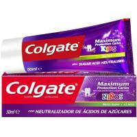 Dentífrico Maximun caries infantil COLGATE, tubo 50 ml