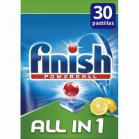 Lavavajillas máquina limón FINISH Todo en 1, caja 30 dosis