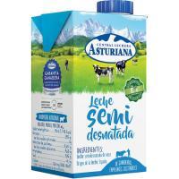 Leche semidesnatada ASTURIANA, brik 50 cl