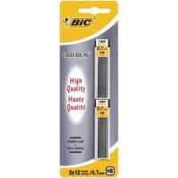 Recambio minas de grafito 0.7mm, 12 minas por tubo Criterium BIC, pack 2 tubos