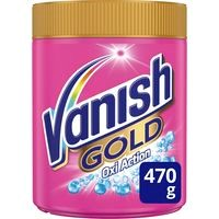 Quitamanchas polvo oxi rosa VANISH Gold, bote 470 g