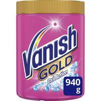 Quitamanchas polvo oxy rosa VANISH Gold, bote 940 g