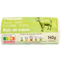 Queso rulo de cabra EROSKI, rulo 140 g
