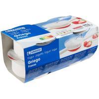 Yogur griego con fresa EROSKI, pack 4x125 g