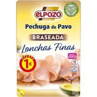 Pechuga de pavo braseada lonchas finas ELPOZO, bandeja 85 g