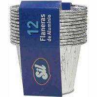 Flanera de aluminio SIL, pack 12 unid.