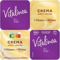 Crema de vainilla desnatada DANONE Vitalínea, pack 4x120 g