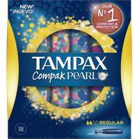Tampón regular TAMPAX Compak Pearl, caja 18 unid.