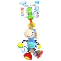 Dingly Dangly Clip Clop, sonajero para estimulación auditiva. Con clip para fijar fácilmente a cochecitos de paseo o auto.los colores y patrones vibrantes fomentan la percepción visual. PLAYGRO