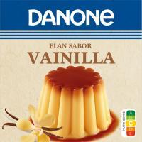 Flan de vainilla DANONE, pack 4x110 g