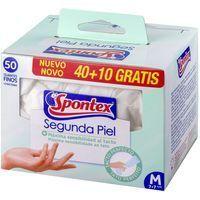 Guante latex desechable talla mediana SPONTEX, caja 40+10 unid.