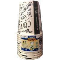 Vaso de café 250 cc NUPIK, pack 12 unid.