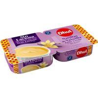 Natillas de vainilla sin lactosa DHUL, pack 2x125 g