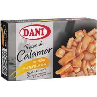 Calamares en trozos en salsa americana DANI, lata 106 g