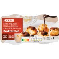 Profiteroles EROSKI, pack 2x90g