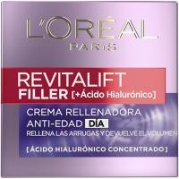 Crema antiedad de día L`OREAL Revitalift Filler, tarro 50 ml