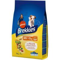 Alimento de pollo-buey-verdura perro mini BREKKIES, saco 3 kg