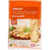 Queso rallado Emmental EROSKI, bolsa 200 g
