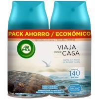 Ambientador oasis turquesa AIRWICK F. M, recambio, pack 2x250 ml