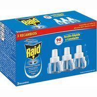 Insecticida eléctrico RAID, recambio, pack 3 unid.