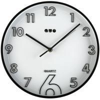 Reloj de pared redondo negro QUO