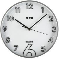 Reloj de pared redondo plata QUO