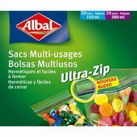 Bolsa multiusos Ziploc ALBAL, caja 40 unid.