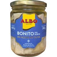 Bonito del norte en aceite de oliva ALBO, frasco 400 g