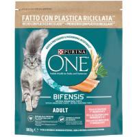 Alimento de salmón gato adulto PURINA One, paquete 800 g