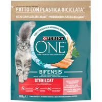 Alimento de salmón gato esterilizado PURINA One, bolsa 800 g
