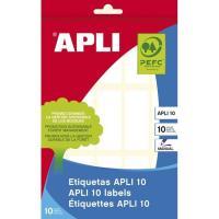 Etiqueta adhesiva blanca de 20x50mm APLI, sobre 10 hojas