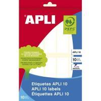 Etiqueta adhevia blanca de 20x75mm APLI, sobre 10 hojas