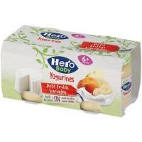 Potito de frutas variadas Petit HERO, pack 2x80 g